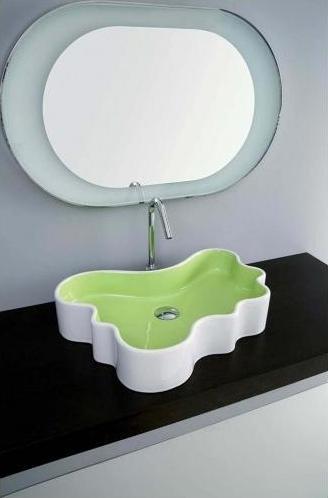 umywalka zielona